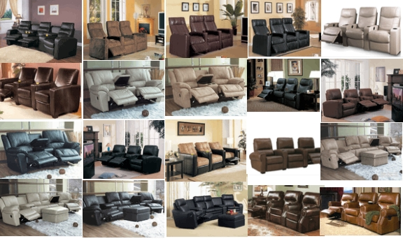 Buy Discount Home Theater Leather Seating with FREE shipping in the USA